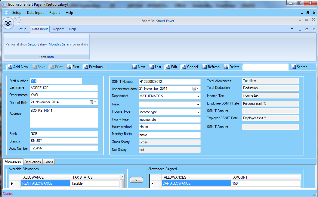 BoomSol Payroll Management System